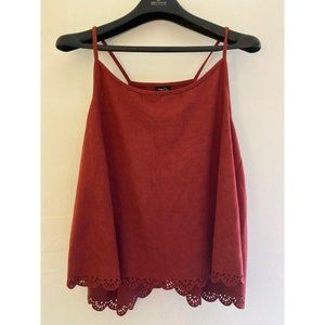 Rue 21 Red Suede Tank Top
